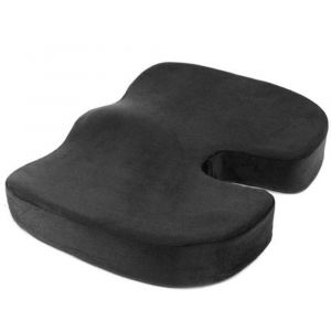 Novimed Coccyx Medical Orthopedic Memory Foam Seat Cushion - Black