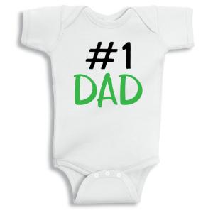 Twinkle Hands Number 1 dad Baby Onesie, Bodysuit, Romper