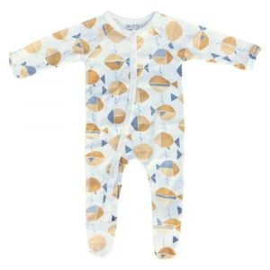 Olen Organic Meri Print Footed Pajama