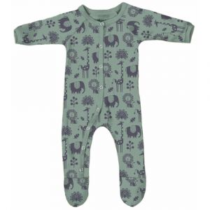 Olen Organic Piha Footed Pajama - Tea Green