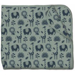 Olen Organic Snuggling Artist Baby Blanket - Tea Green