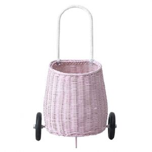 OlliElla Pink Luggy Basket