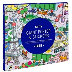 Omy Large Poster - Paris with Stickers