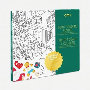 OMY Christmas Factory Giant Coloring Posters
