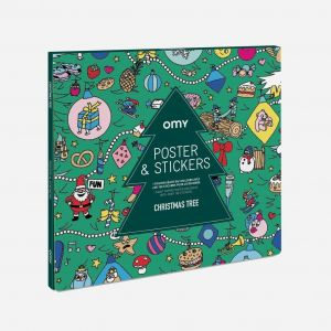 Omy Christmas Tree with Stickers Poster - Large