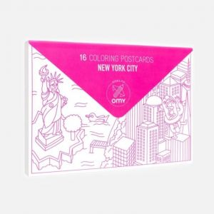 OMY New York 16pcs Coloring Postcards