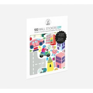 OMY Set Of 100 Wall Stickers City