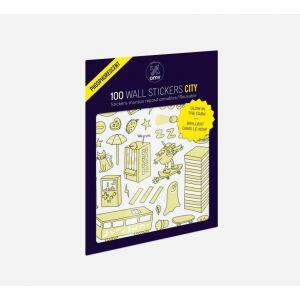 OMY Set Of 100 Wall Stickers Glow In The Dark City