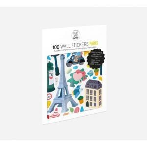 OMY Set Of 100 Wall Stickers Paris