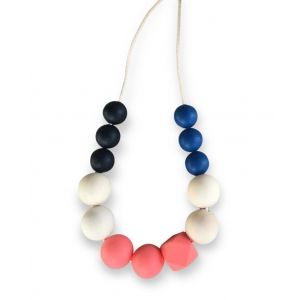 One.Chew.Three Mia Necklace - Coral