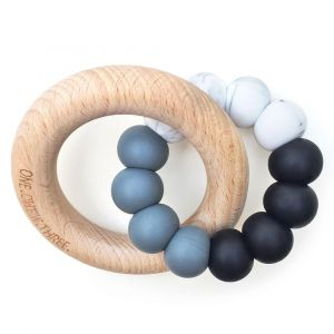 One.Chew.Three Duo Teether - Mono Ombre