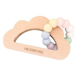 One.Chew.Three Cloud Teether - Rainbow