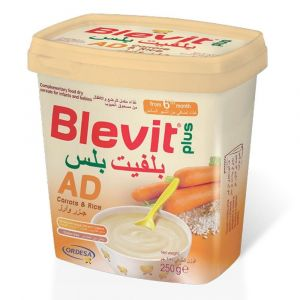 Blevit Plus Ad 250 gm Dry Cereals - Milk Free - Lf from 4 months