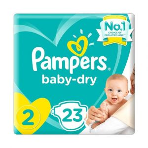 Pampers New Baby-Dry Diapers, Size 2, Mini, 3-6kg, Carry Pack, 23 pcs