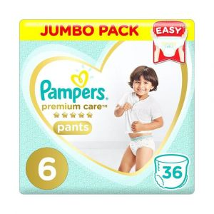 Pampers Premium Care Pants Diapers, Size 6, Extra Large, >16kg, Jumbo Pack, 36 pcs