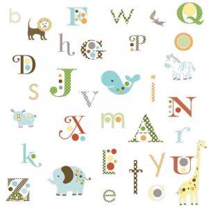 Room mates Alphabet Dotted Appliques