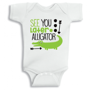Twinkle Hands See you later alligator Baby Onesie, Bodysuit, Romper