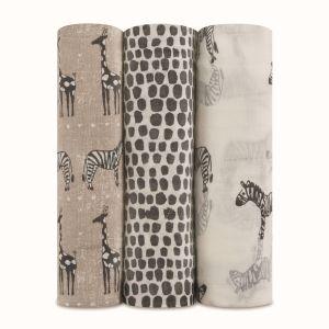Aden + Anais Silky Soft 3-Pack Swaddles Sahara Motif