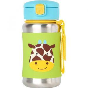 Skip Hop Giraffe Zoo Stainless Steel Straw Bottle