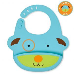 Skip Hop Zoo fold & go silicone bib Dog