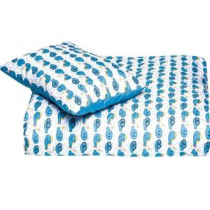 Smurfs 2Pc Blue Comforter Set 0-4Years