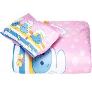 Smurfs 2Pc Pink Comforter Set 0-4Years