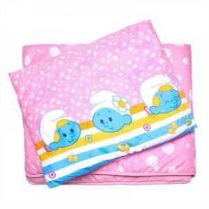 Smurfs 2Pc Pink Comforter Set 3-9 Years