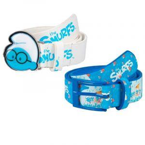 Smurfs Blue Kids Belt and White 2pcs