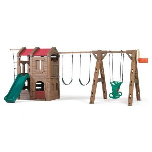 Step2 Naturally Playful Adventure Lodge Play Center With Glider - Outdoor Toys
