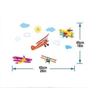 StickieArt Biplane Wall Decal - Medium - 50 x 70 cm