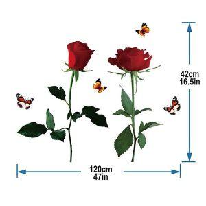 StickieArt Butterflies N Roses Wall Decal - Medium - 50 x 70 cm