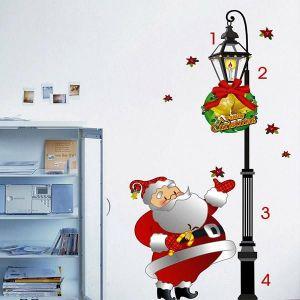 StickieArt Christmas Santa Claus with Lamp Wall Decal - Medium - 50 x 70 cm