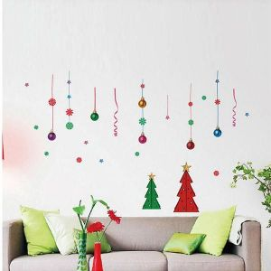 StickieArt Christmas Tree And Balls Wall Decal - Medium - 50 x 70 cm