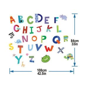 StickieArt Colorful Alphabets Wall Decal - Medium - 50 x 70 cm