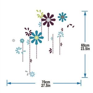 StickieArt Flower Wall Decal - Medium - 50 x 70 cm