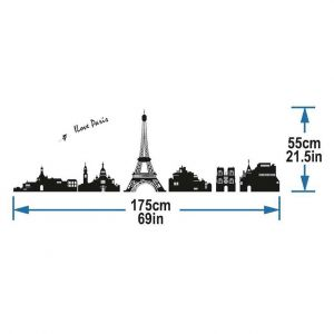 StickieArt I Love Paris Wall Decal - Medium - 50 x 70 cm