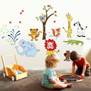 StickieArt - Jungle Toons - Wall Decal - Large - 60 x 90 cm