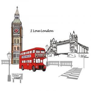StickieArt London Landmarks - Wall Decal - Large - 60 x 90 cm