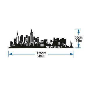 StickieArt New York Skyline Wall Decal - Medium - 50 x 70 cm