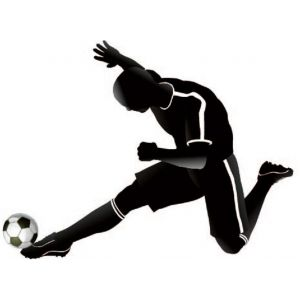 StickieArt Sports Soccer Wall Decal - Medium - 50 x 70 cm