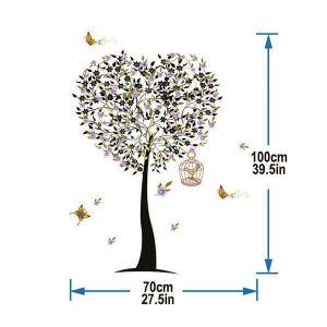StickieArt Tree Heart Wall Decal - Medium - 50 x 70 cm