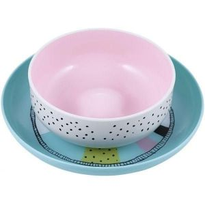 Suavinex Pink Plate and Bowl - +6m