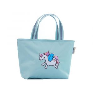 Sunveno Embroidery Unicorn Green Insulated Lunch Bag