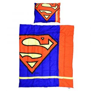 Superman 2Pcs Comforter Set -Blue