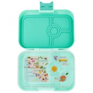 Yumbox Panino Surf Green Lunch Box - 4 Compartments