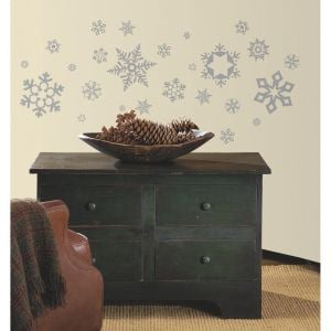 RoomMates Glitter Snowflakes Wall Decal