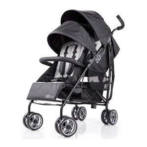 Summer Infant - Black 3D Two Double Convenience Stroller