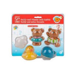 Hape Kids Little Splashers Teddy and Friends Bath Squirts Toy Set
