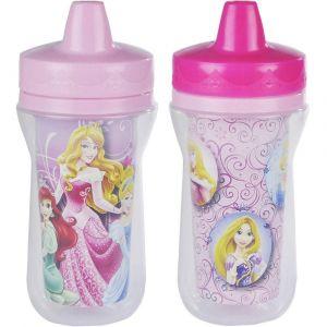 The First Years Princess 9oz Insulated Sippy Cups - 2pcs