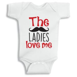 Twinkle Hands The Ladies love me Baby Onesie, Bodysuit, Romper